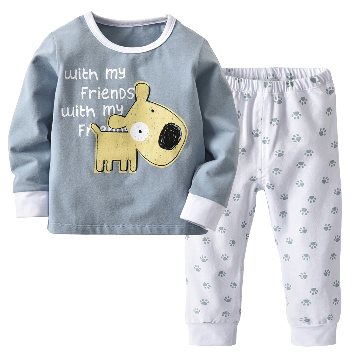 Kids Pijama Boys Pijamas Cartoon Pyjama Baby Boy Christmas Pajamas Teens Pyjamas Kids Toddle Homewear Sets Sleepwear 2-14Y CA275
