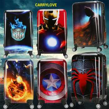 CARRYLOVE cartoon luggage series 18/20/24 size boarding PC Super hero  Rolling Luggage Spinner brand Travel Suitcase - DISCOUNT ITEM  21% OFF All Category