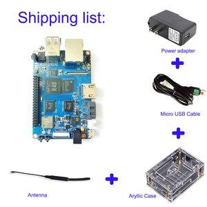Image 2 - BPI M2 الترا R40 رباعية النواة 2GB DDR3 RAM مع SATA واي فاي بلوتوث 8GB eMMC التجريبي لوحة كمبيوتر واحدة