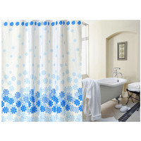 Bathroom Product Peach Blossom Shower Curtain Polyester Cloth With Copper Buttonhole Shower Curtain Waterproof Shower Curtain