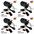 4 XLOT Mini 400 W Hazer Máquina de fumaça Com Controle Remoto & Cable, 400 W Palco Máquina de Fumaça Neblina luzes de Fumaça Fumaça DJ Equipamentos