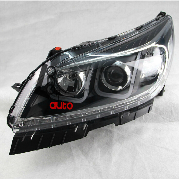 lens Headlights With LED DRL And Bi-xenon Projector For  Chevrolet Malibu 2011-2014 for chevrolet cruze tuning bi xenon projector lens head lights with led turn light 2015 year new arrival