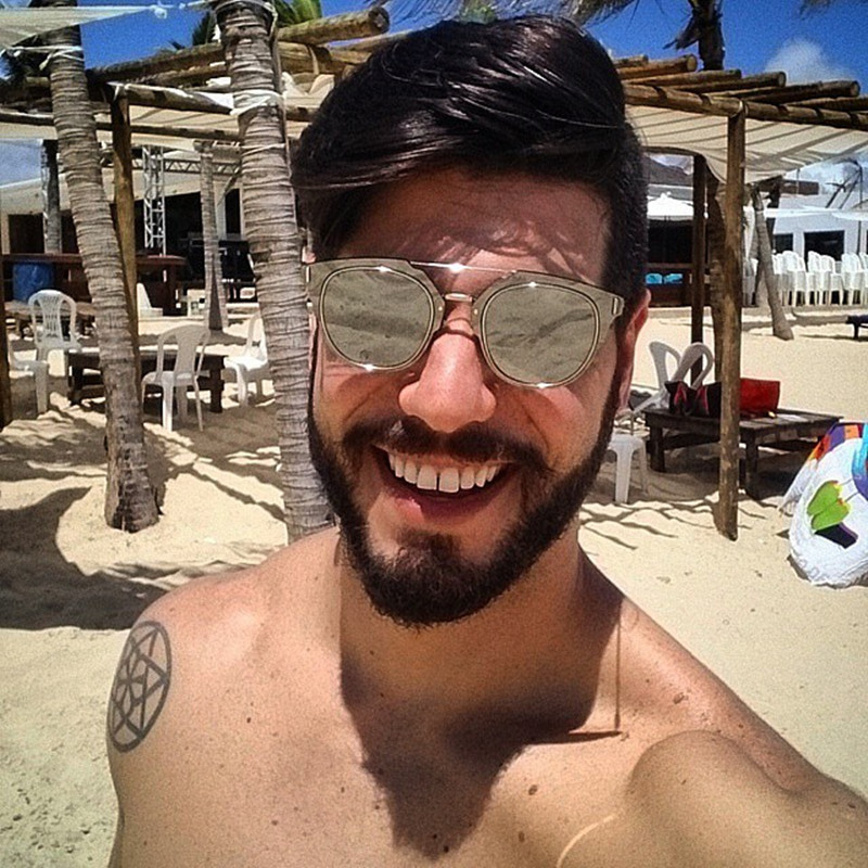 9171db42a24 DOLCE VISION Silver Mirror Sunglasses Men Luxury Brand Designer Oculos Male  2018 Metal Pilot Style Sun Glasses For Men
