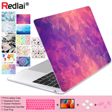 Geometric Crystal Print Plastic Hard Case For Macbook 2016 Pro Retina 13 15