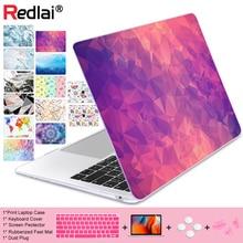цена Geometric Crystal Print Plastic Hard Case For Macbook 2016 Pro Retina 13 15