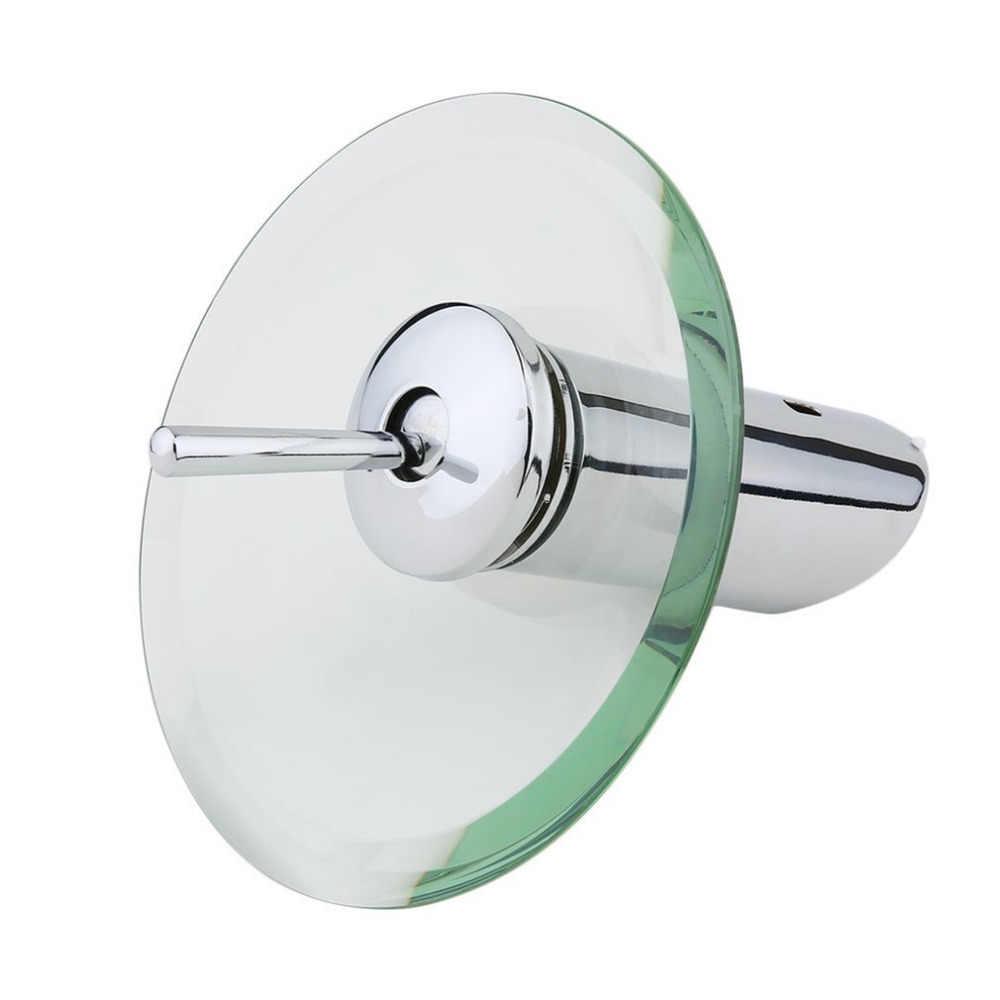 シングルレバーホットとコールドミックスタップデスクマウントガラス滝浴室キッチンシンクの蛇口ラウンド滝クローム洗面器の蛇口