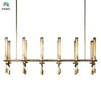 RH Loft Ретро Медь Золото Led Люстра Lustre E14 Эдисон Лампы Подвесные Люстры Для Гостиной Столовая Закрытый Lightng