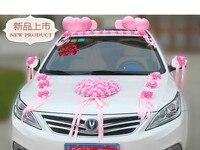 Simple Heart Rose Wedding Car Decorative Flowers Korean Wedding Engagement Bride Wreath Float Wedding Decor Garland