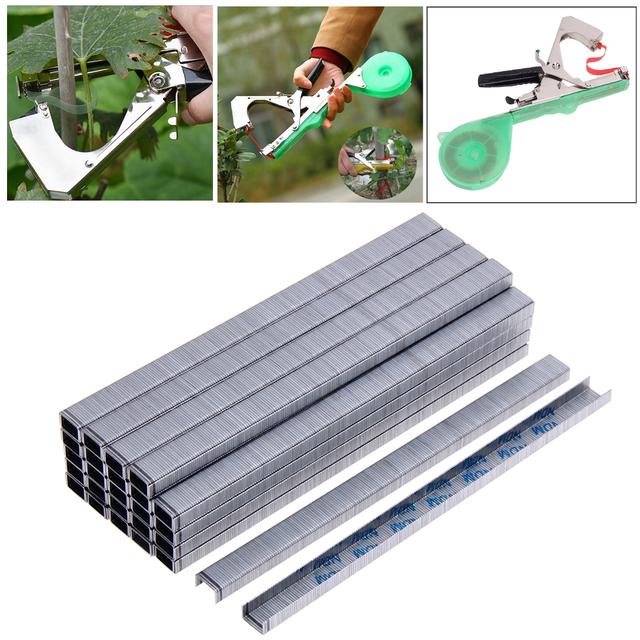 10000pcs/Set Tape Tool Binder Nail Tapener For Hand tying machine Tying Tapetool for Grafting Machine Garden Pruning Supplies