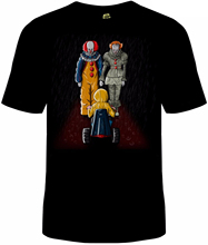Pennywise IT T-Shirt Unisex Funny Hiya Georgie Cotton Adult Clown Stephen King Print T Shirt Summer Style Top Tee Round
