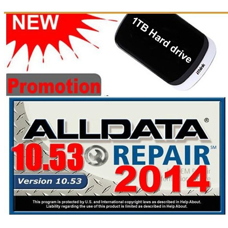 Alldata 10.53 + 166gb mit 2015 + med & heavy truck software de reparo conjunto completo com 1 tb hdd 3.0usb