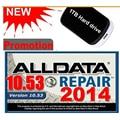 DEL ALLDATA 10.53 166 gb Mit 2015 + med y camiones pesados conjunto Completo de Reparación de software con 1 TB HDD 3.0USB