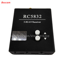 BOSCAM 5.8ghz rc fpv audio video receiver 32CH mini LED wireless model quadcopter RX for car helicopter drone parts