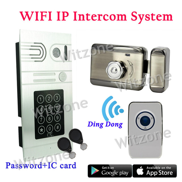 Android/IOS Remote Unlock Control Wireless WIFI Video Doorphone System Password/RFID IP Intercom Home Door Access Control System