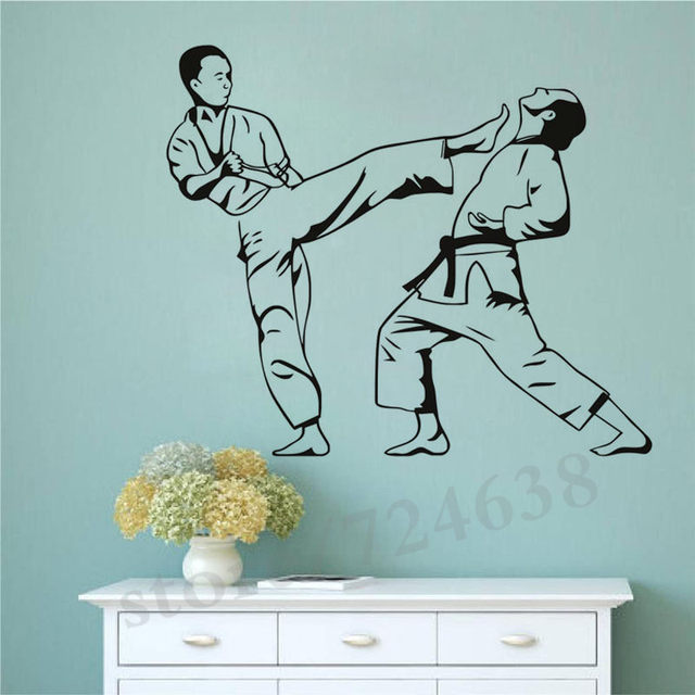 we are happy to help you solve the problem ...  sc 1 st  Aliexpress & Online Shop Karate Kick Removable Decals Wallpaper Martial Art Wall ...
