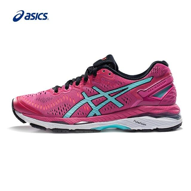 30aeeb4d87 Originais ASICS GEL-KAYANO 23 Almofada Estabilidade Running Shoes das  Mulheres Calçados Esportivos ASICS Tênis