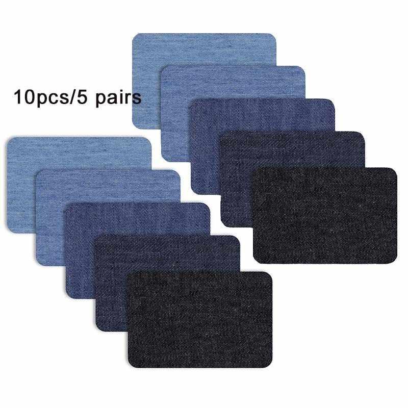 10/5 шт джинсовые нашивки DIY железные на коленях джинсовые нашивки ремонтные штаны для джинсовой одежды и джинсовые штаны Одежда швейная ткань