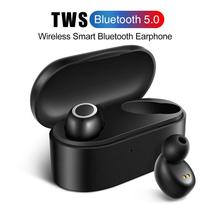 TWS Stereo Sport Fingerprint Touch V5.0 Bluetooth Earphones HD Wireless Rechargeable Earpiece Noise Cancelling Gaming Earphone anomoibuds capsule wireless bluetooth earphones tws earbuds auto pairing noise cancelling v5 0 stereo call sport earphone