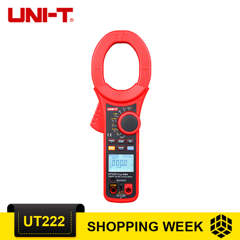 UNI T UT222 2500A True RMS цифровой клещи UT222 электронный тестер частота мультиметр ЖК дисплей подсветка