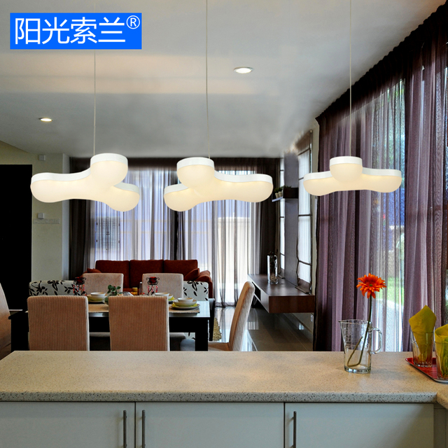 Aliexpresscom Buy Modern LED 21W white acrylic 3 chandeliers