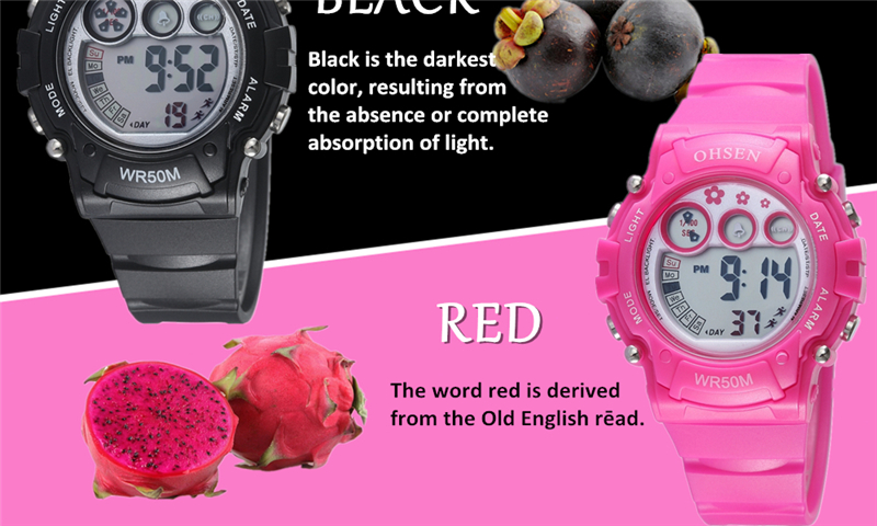 New Ohsen Unisex Watch Fashion Casual Watches Relogio Masculino Students Sports For Men Women Water Resistant Alarm Wristwatches (44)