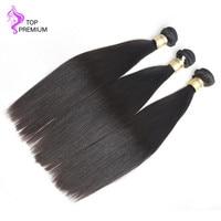TOP PREMIUM Hair Unprocessed Virgin Hair Bundles Brazilian Straight Hair 3/4pcs Natural Color Free Shipping