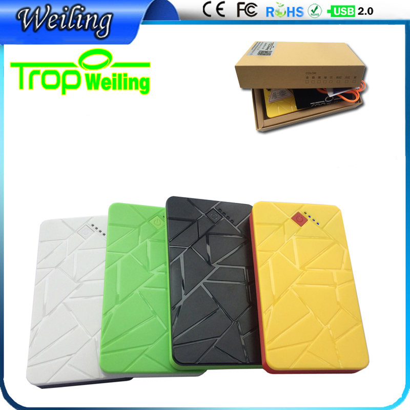 Tropweiling Thin Power Bank Backup battery 8000mah portable charger Powerbank dual usb external battery for All phones