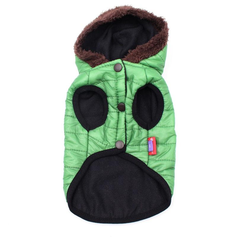 Новая зимняя одежда для собак для маленьких собак, теплый пуховик, водонепроницаемая куртка для собак, толстый хлопковый лыжный костюм, одежда для чихуахуа-4