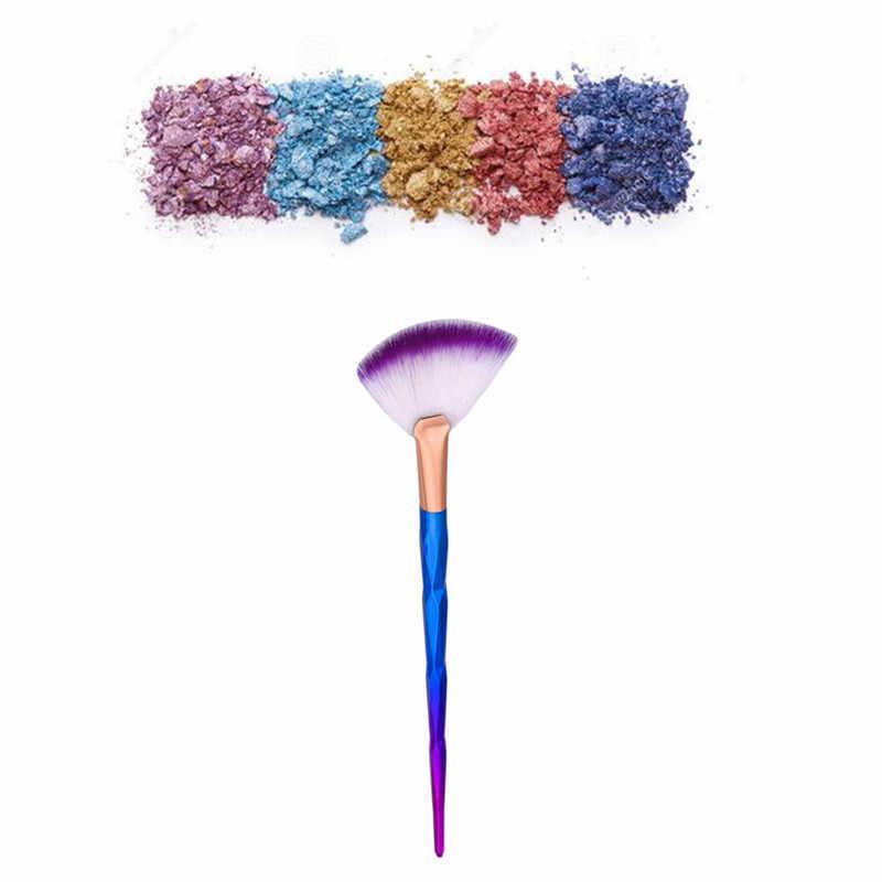 GUJHUI кисти для макияжа Новинка 1 шт. кисть для вентилятора Алмазная портативная тонкая профессиональная набор кистей для макияжа Косметические кисти Jan29