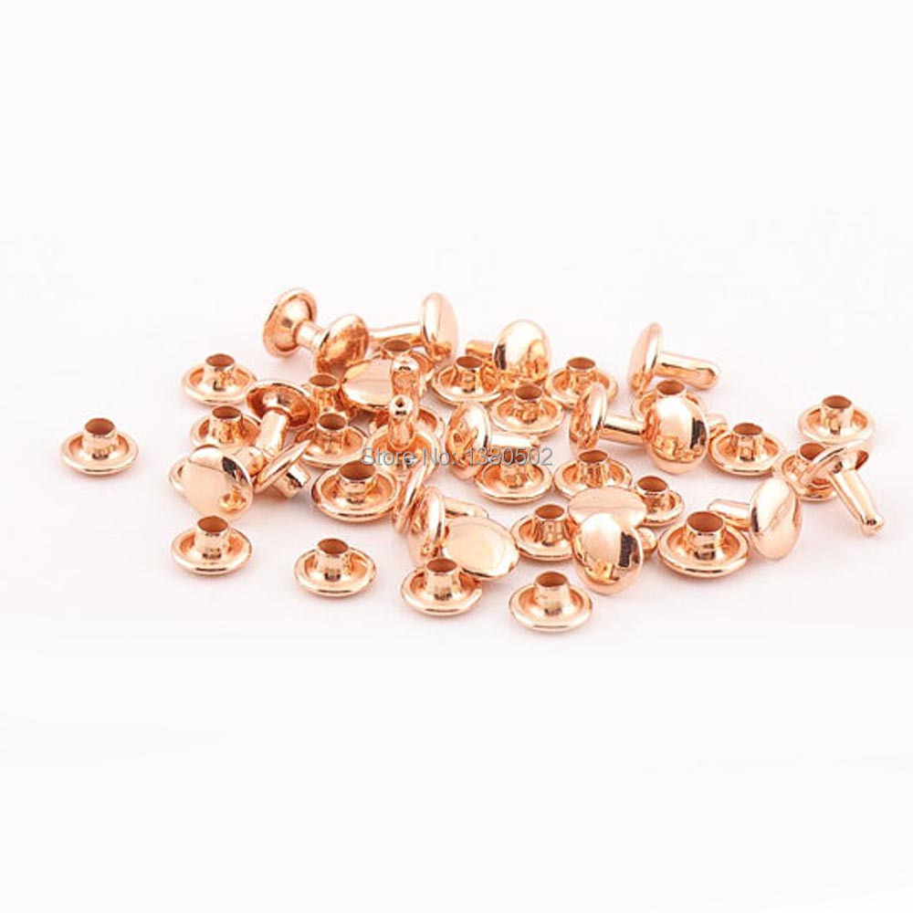 10 Sets Rose Rapid Rivets Stud for Leather Belt Clothes Bag Coat Decoration