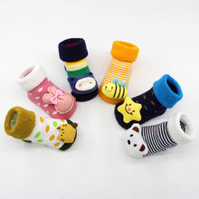 New Arrival Baby Socks Cartoon Newborn Baby Girls Boys Anti-Slip Socks Slipper Shoes Boots USA warehouse Dropshipping(China)