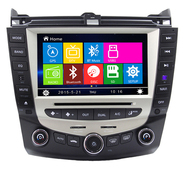 Wholesales 8 Car DVD Player GPS Navigation System for Honda Accord 07 7 Support original on dashboard computer RDS Radio