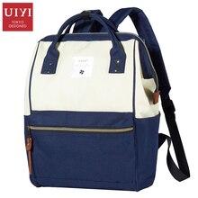 Uiyi mujeres de la lona mochila informal mochilas de marca diseño de la cremallera mochila mochilas mujeres viajan bolso de mano # uyb7006