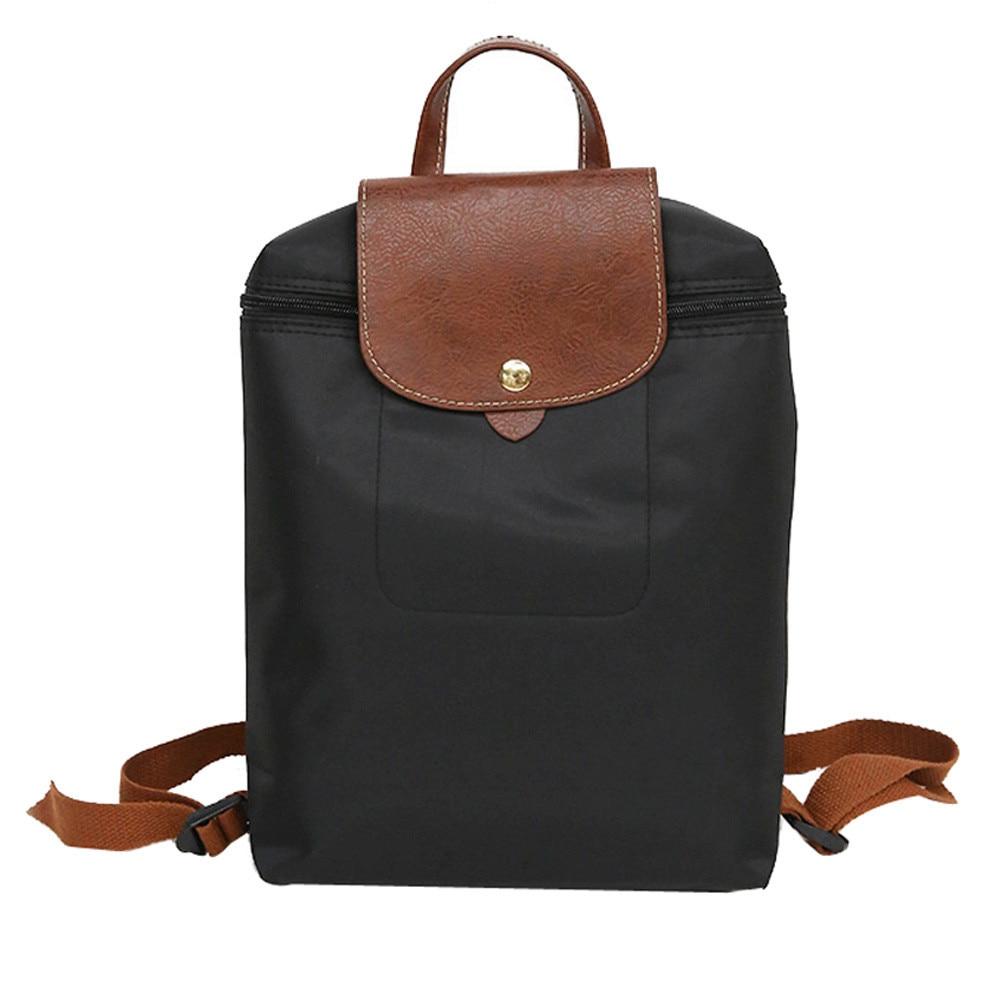 Women Backpack Leisure Travel Nylon Zipper Bag High Quality Student Backpack Folding Bag For Teenagers Mochila das mulheresWomen Backpack Leisure Travel Nylon Zipper Bag High Quality Student Backpack Folding Bag For Teenagers Mochila das mulheres