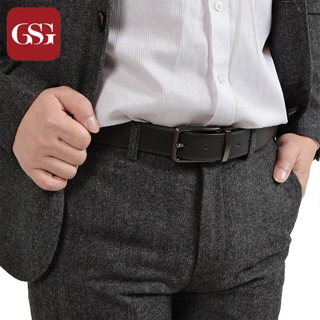 Fashion Brand Men Belts Formal Business Belts for Men Genuine Leather Black  Belt for Man Ceinture