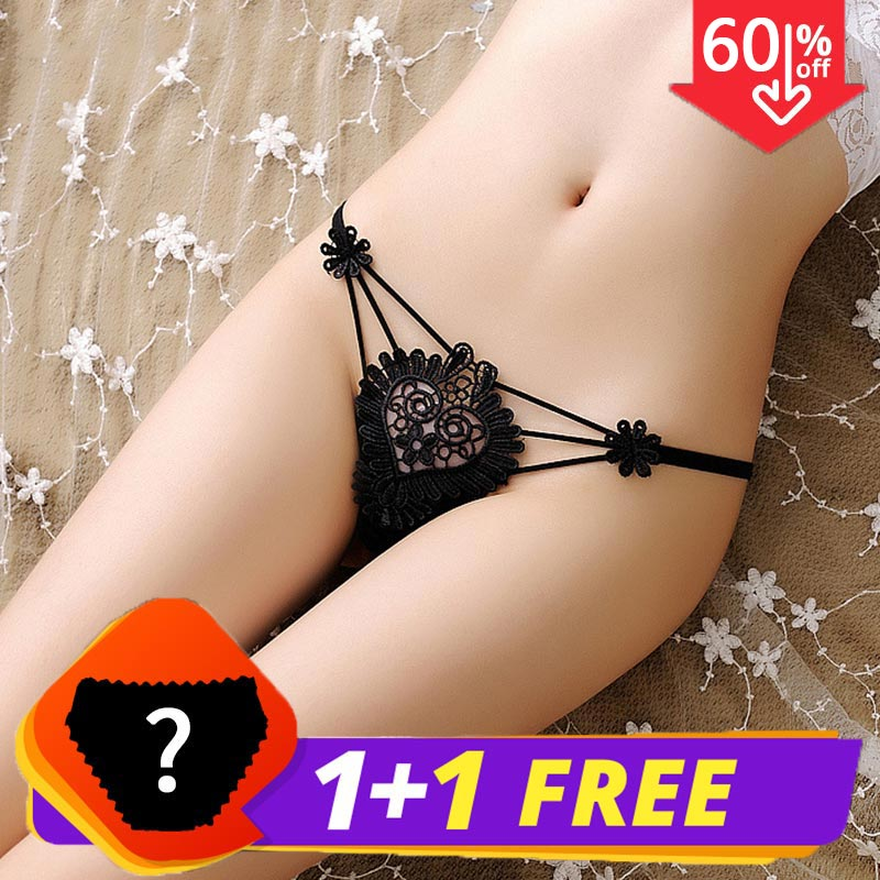 Sexy thong piece connected Flowers Hollow   Panties   2019 spring summer new products Fine with Luxury Women's underwear