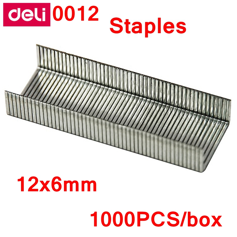 1000PCS/BOX Deli 0012 Universal Staples 24/6 Staples 12x6mm Normal Staple Binding Capacity 25 Pages 70g China Top Brand Deli