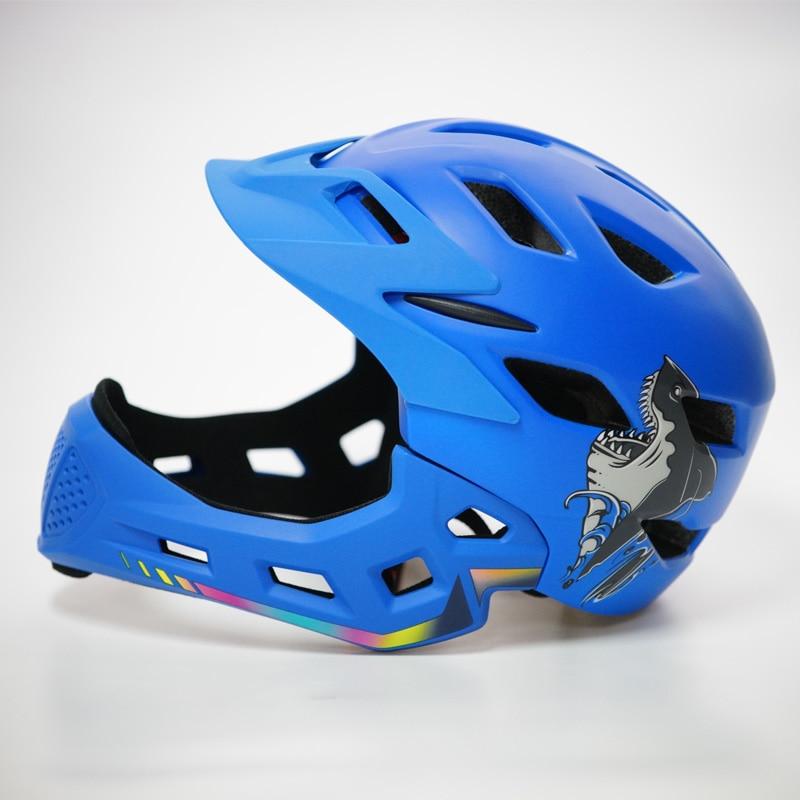 kids Full Face band Tail light Bicycle Helmet Cycling cair Motocross Downhill MTB helmet DH Downhill