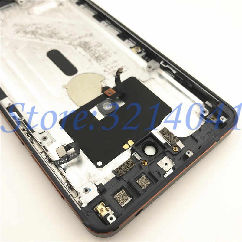 100% de Metal Original de la cubierta de la batería para Nokia 6,1 de 2018 TA-1043 carcasa trasera de la batería + Cámara lente y tecla lateral + logotipo