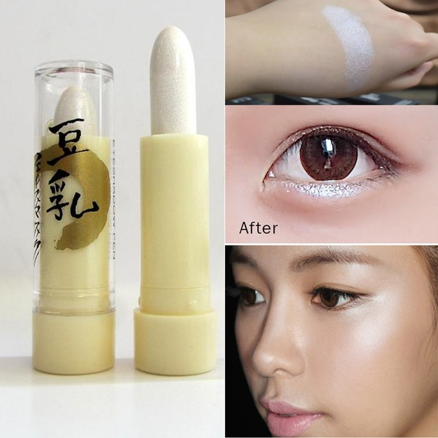 Hot Branded Face Contouring Highlighter Make Up White Gittle Shimmer Eyeshadow Makeup Bronzer Stick Glow Makeup Kit sombra