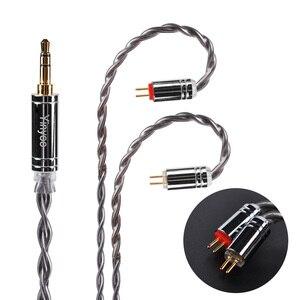 Image 2 - Yinyoo 4 núcleo 7n único cabo de cobre cristal 2.5/3.5/4.4mm occ prata chapeado cabo com conector mmcx para a lata as10 t2 t3 c16