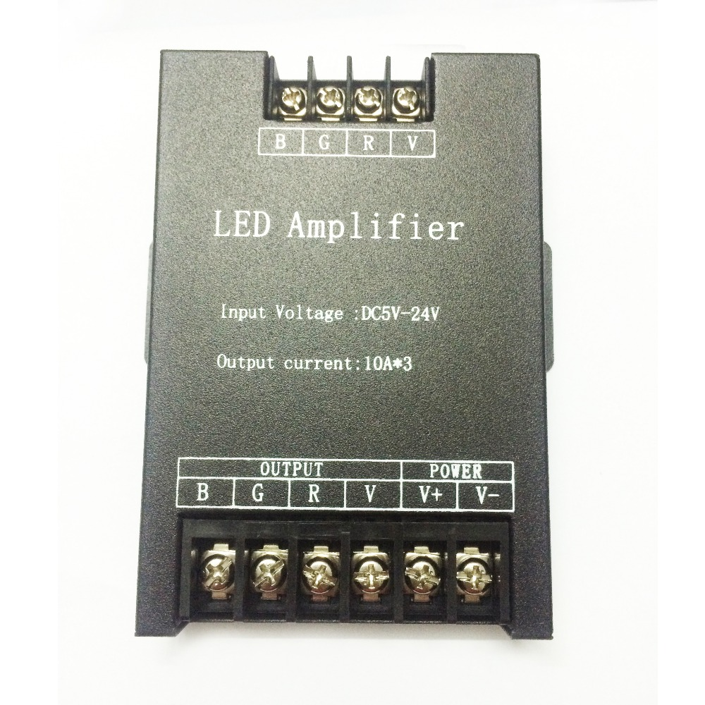 Lights & Lighting Lighting Accessories Dc5v-24v Led Rgb Amplifier Controller 30a Input 5v/12v/24v 30a Signal Repeater 150w 360w 720w For 3528 /5050 Rgb Strip And Modul Bracing Up The Whole System And Strengthening It