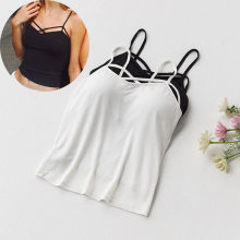 6379ff8f743 Sexy Crop Top Women Pad Bra Bustier Bralette Top Solid Padded Camisole  Female Ladies Tank Tops