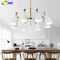 FUMAT Quality Luxury Chandelier Brand Design Indoor Lightings Living Room Blue Black White Lustres Light LED