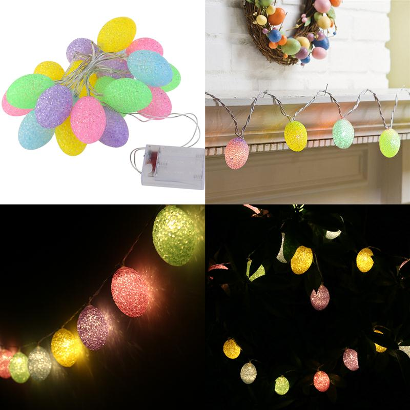 2m easter egg lights string 20 light battery powered indoor 2m easter egg lights string 20 light battery powered indoor outdoor garland crawling lighting for xmas wedding party decoration aloadofball Images