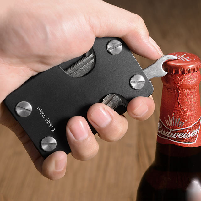 Multifunctional Metal ID Theft Card Wallet with Bottle Opener