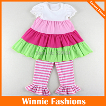 2015 New Girls Clothing Sets Baby Kids Clothes Children Clothing Short Sleeve Ruffle Shirt And Pants Sets Girl 2pcs Cloting Set