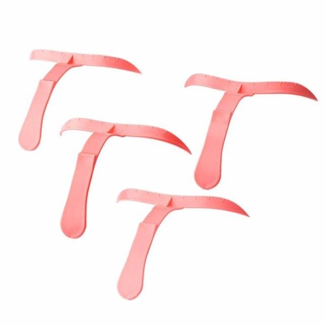 4 pcs/pack Micro Eyebrow Pencil Forming Molding Template Ruler Microblading Eyebrow Ruler Makeup Tools Permanent Stencils 3