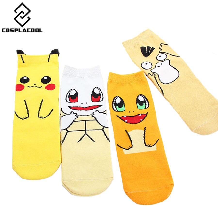 cosplacool nouvelle mignon pokemon cartoon donald duck femmesfilles chaussettes casual coton pikachu