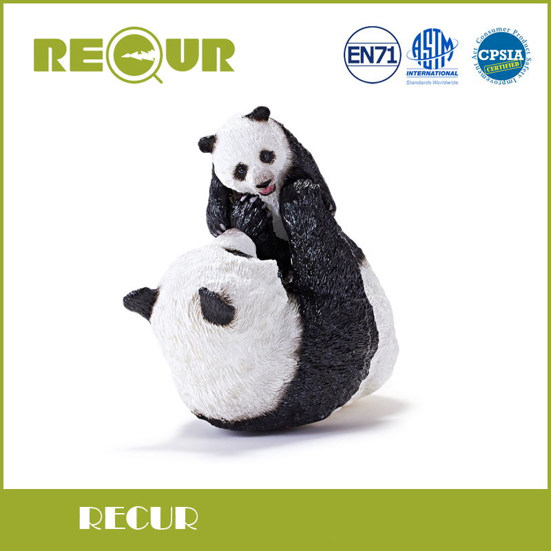 Recur Giant Panda figure Simulation Model Hand Painted Soft PVC Action Figures Wild Animal Toy Collection Gift For kids polar marine animal model toy penguin reindeer polar bear blue whale walrus sea l toy model sets pvc figure